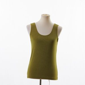 4/$25 Chico's Travelers Green Tank Top Size (1) M